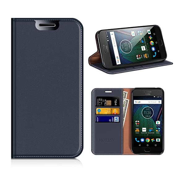 new style f4f17 a7f5a Amazon.com: Moto G5 Plus Wallet Case, Mobesv Moto G Plus (5th ...