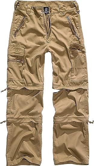 Details zu BRANDIT Savannah Outdoor Trekking Hose S 3XL Herren Zip Off Cargo 3in1 Trousers