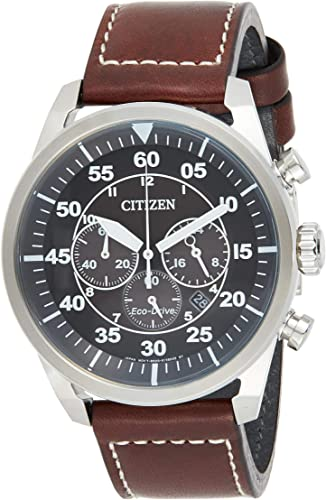 Citizen Men S Eco Drive Stainless Steel Chronograph Watch With Date Ca4210 24e Watches