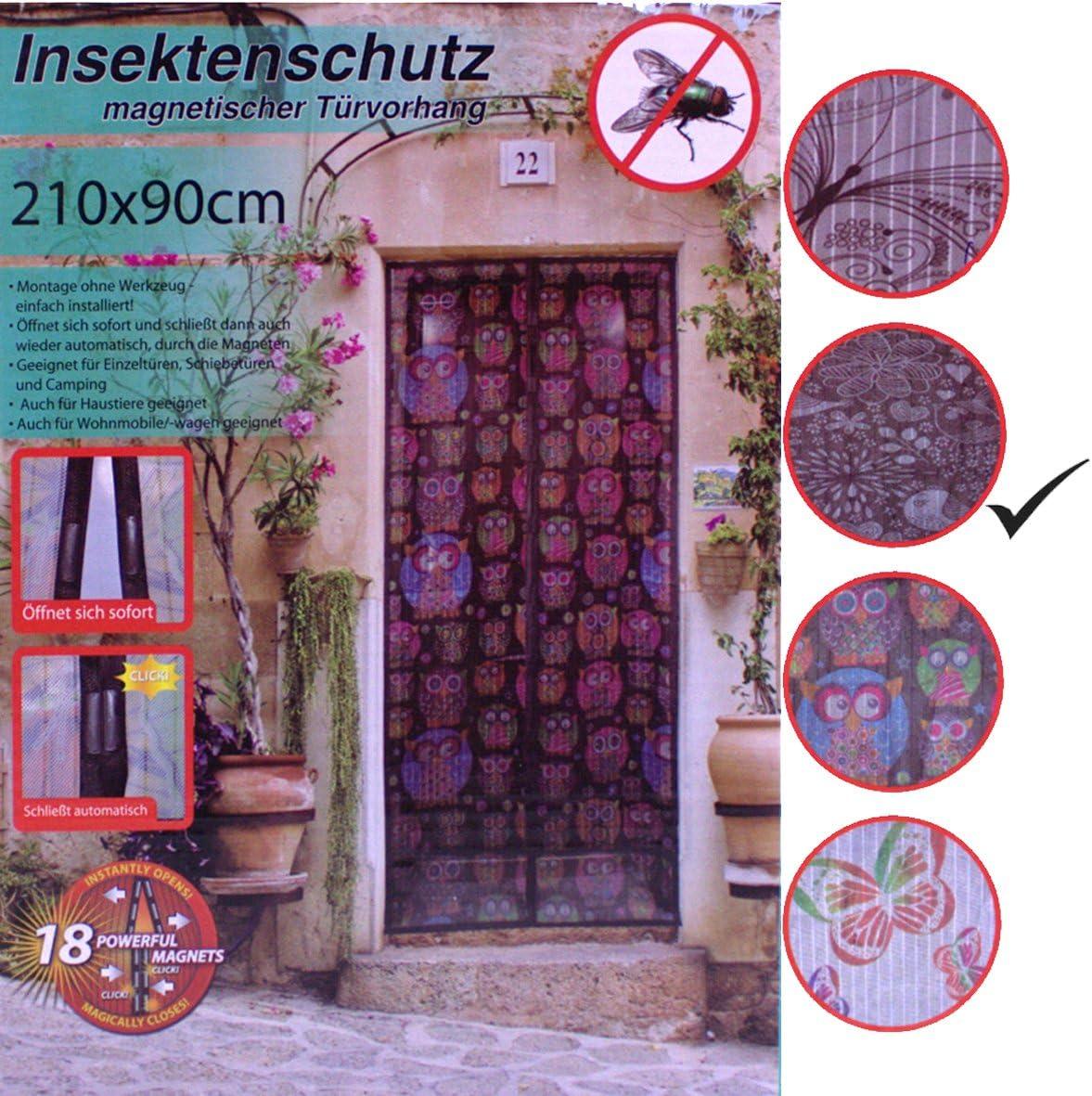 Magnetischer Fliegenvorhang Moskitonetz 95x190cm Magnetische Adsorption Faltbar Wei/ß Auto Schlie/ßen Luft kann frei str/ömen Insektenschutz Magnet Fliegenvorhang for T/üren//Patio