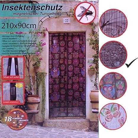 Magnetvorhang Grau 90x210cm Magnet Fliegengitter Balkont/ür Frei Magnetisch 35x83inch Insektenschutz f/ür Balkont/ür Wohnzimmer Terrassent/ür