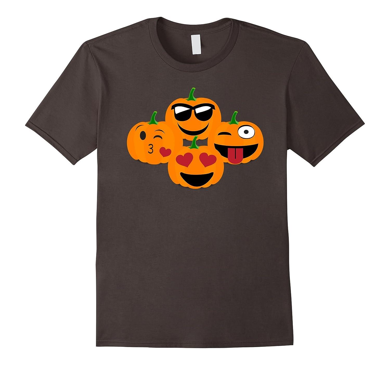 Emoji Pumpkin Shirt Halloween Jack O Lantern Faces Funny