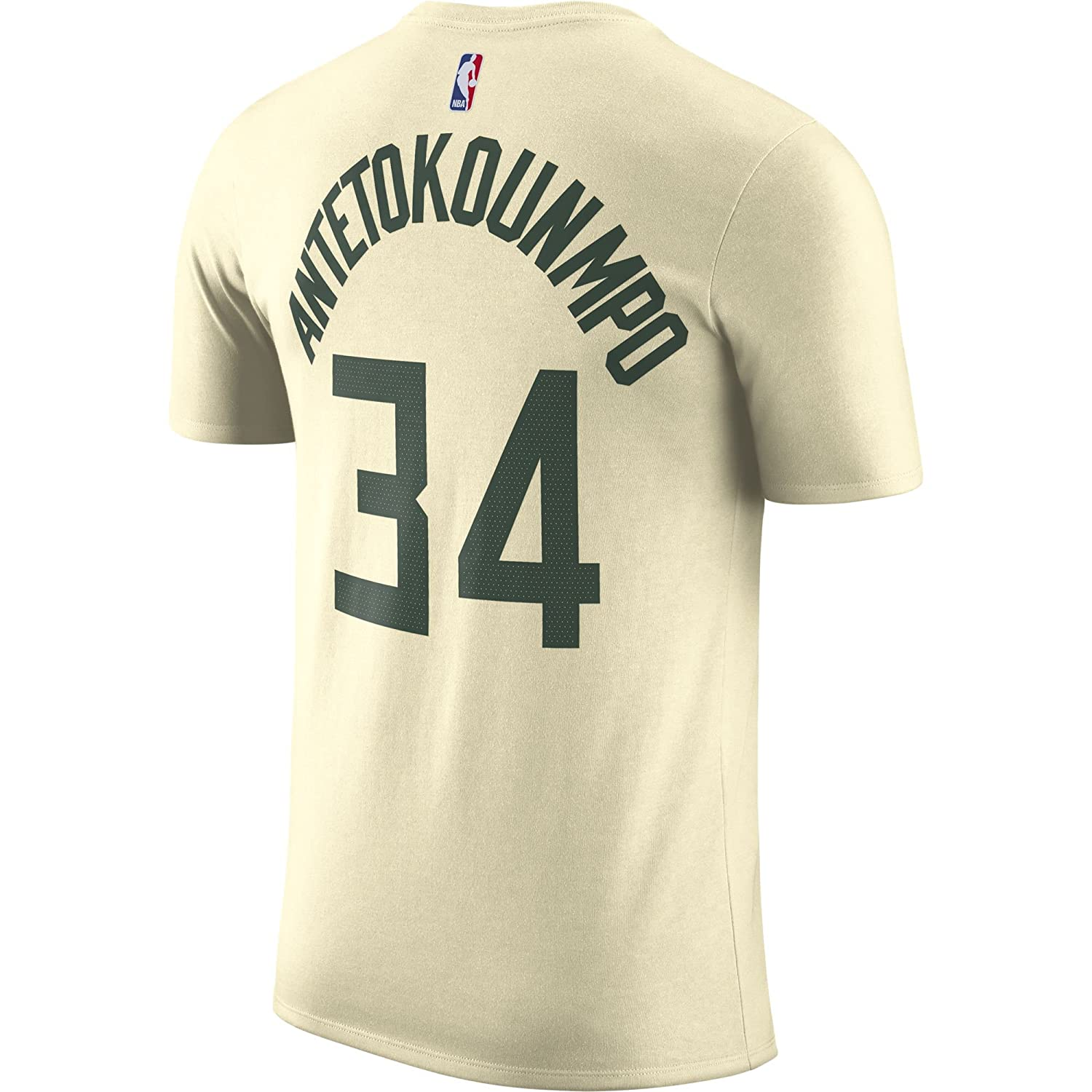 Nike NBA Milwaukee Bucks Giannis Antetokounmpo 34 2017 2018 City Edition Name & Number Official, Camiseta de Hombre: Amazon.es: Ropa y accesorios
