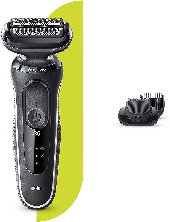 Braun Series 5 50-W1500s Afeitadora Eléctrica, máquina de afeitar barba hombre de lámina , con Recortadora De Barba, Uso En Seco Y Mojado, Recargable, Inalámbrica, Blanco: Amazon.es: Salud y cuidado personal