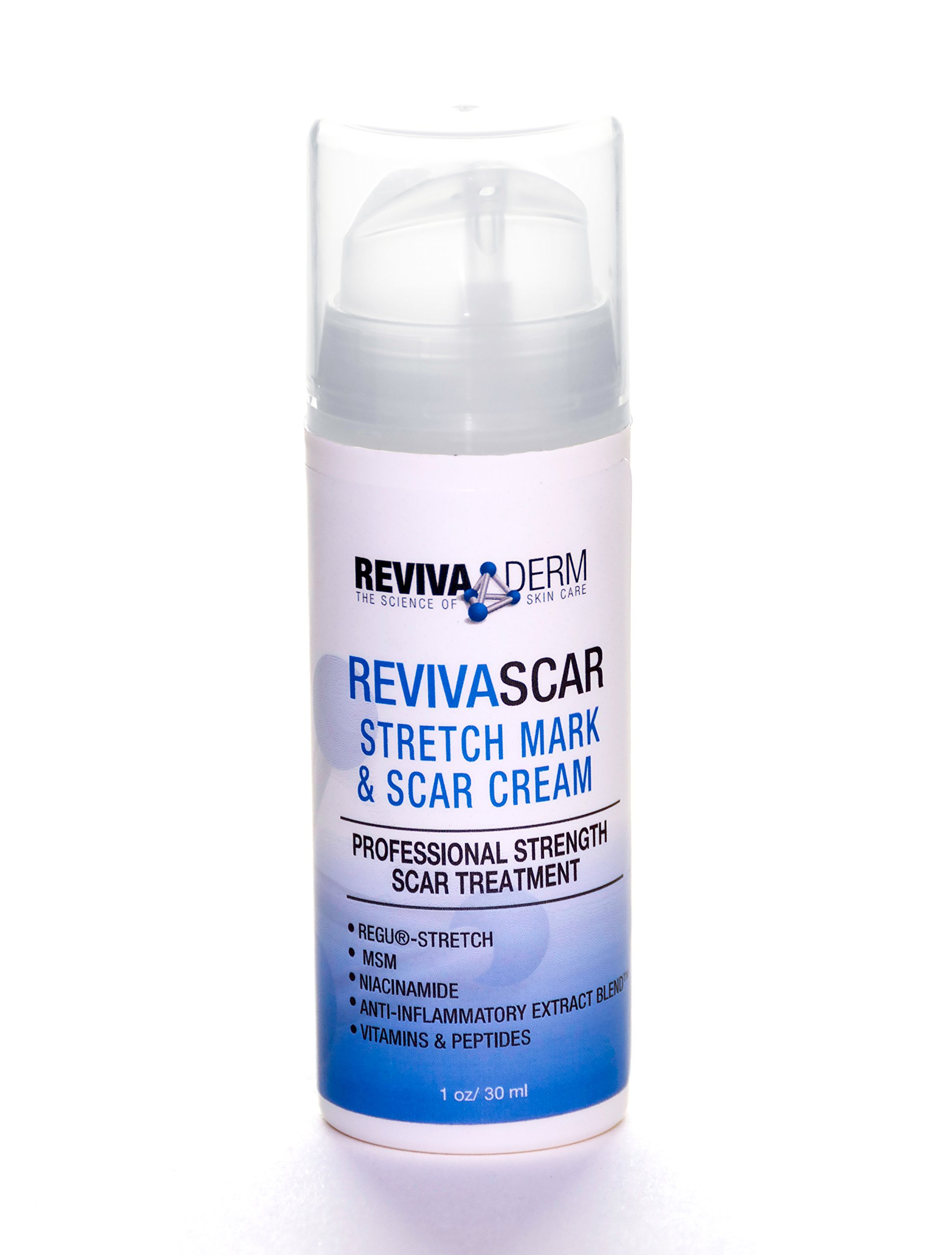 Revivaderm RevivaScar Stretch Mark & Scar Cream – Professional Strength Scar Treatment Specially Developed For Treatment Of Stretch Marks, Acne Scars, Skin Renewal, Minor Scarring, Repair- 1 oz