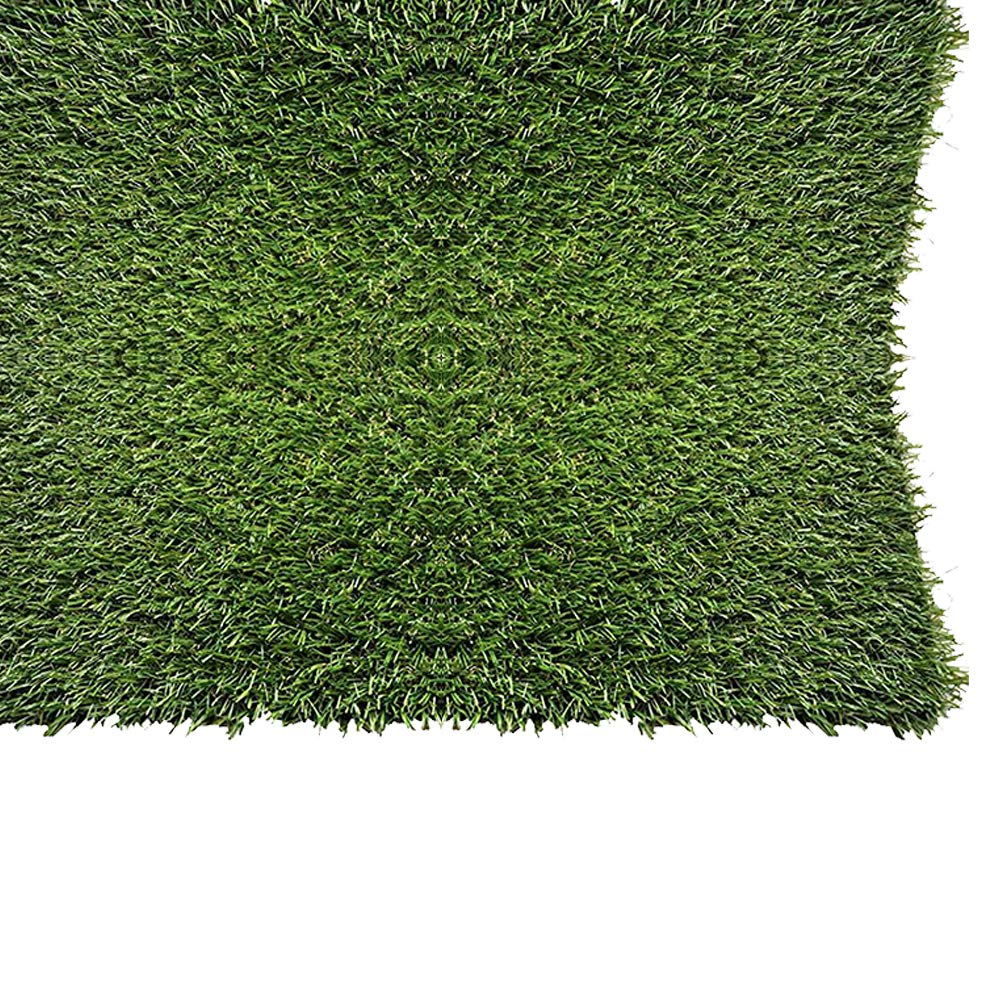 PZG 1 Inch Artificial Grass Patch W/Drainage Holes U0026 Rubber Backing |  4 Tone Realistic Synthetic Grass Mat | Heavy U0026 Soft Pet Turf | Lead Free  Fake Grass ...