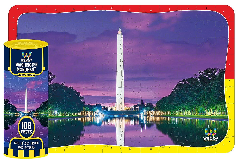 Webby Washington Monument Jigsaw Puzzle, 108 Pieces