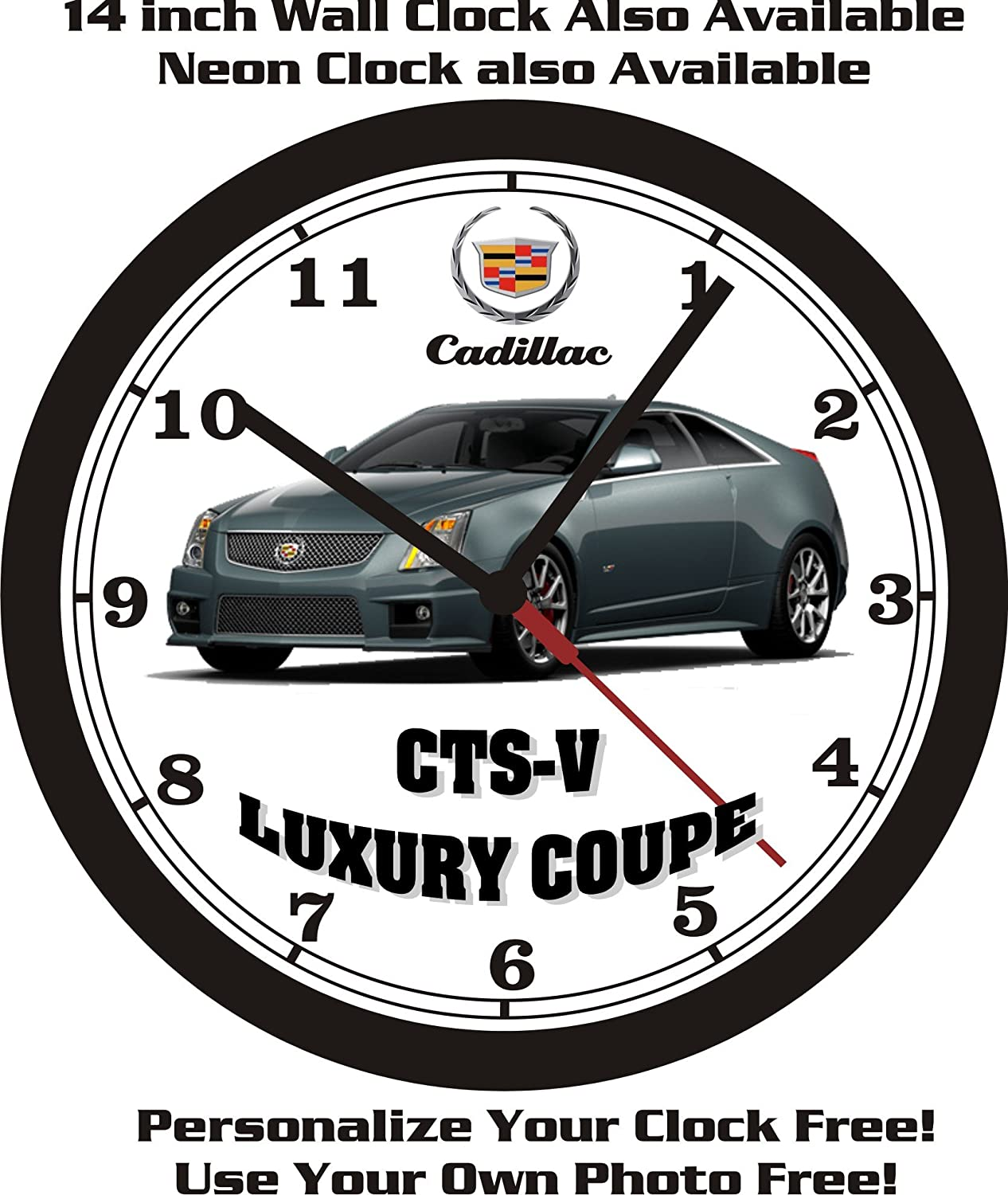 Amazon.com: 2013 CADILLAC CTS-V LUXURY COUPE WALL CLOCK-FREE USA SHIP!: Home & Kitchen