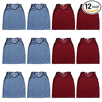 bdde570acd6b Youth Nylon Mesh Practice Jerseys Sports Scrimmage Vests - Team Pinnies For  Children - Soccer