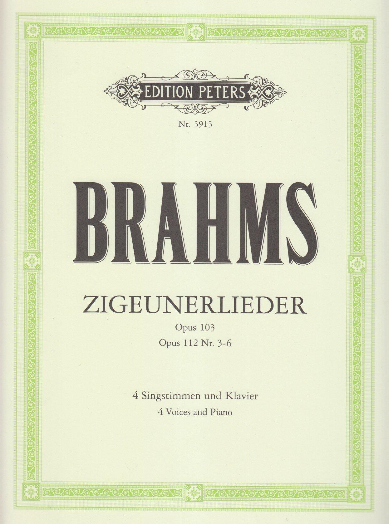 Zigeunerlieder op. 103 · op. 112; 3-6: für 4 Singstimmen und Klavier