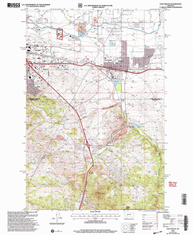 Amazon.com : YellowMaps East Helena MT topo map, 1:24000 ...