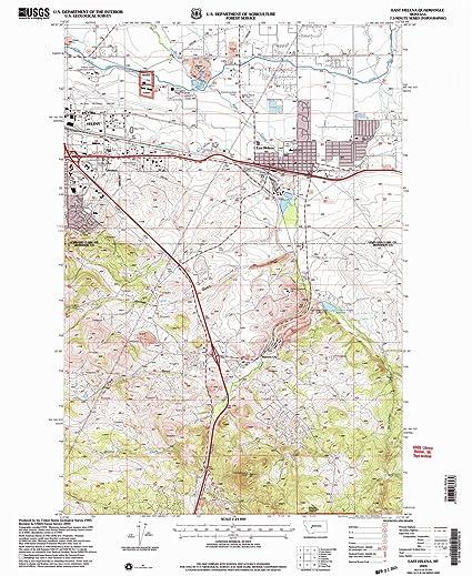 Amazon.com : YellowMaps East Helena MT topo map, 1:24000 Scale, 7.5 ...
