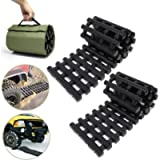 RELIANCER 2PC Traction Tracks Mats TPR 31.5' L Tire Recovery Track Pad Roll Car Vehicle Tyre Traction Boards Tire Ladder…