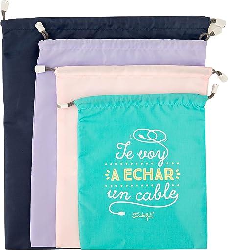Mr Wonderful WOA08514ES Pack de bolsas bonitas para viajar: Amazon.es: Equipaje