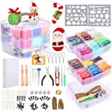 PP OPOUNT Needle Felting Kit, 48 Colors Wool Roving Fibre Yarn, Complete Needle Felting Starter Kit with Basic Felt Tools and