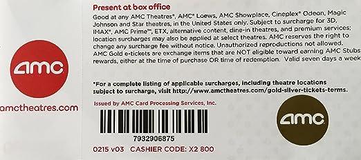 Amazon.com : 10 AMC Theater Gold Tickets : Ticket Rolls : Office ...