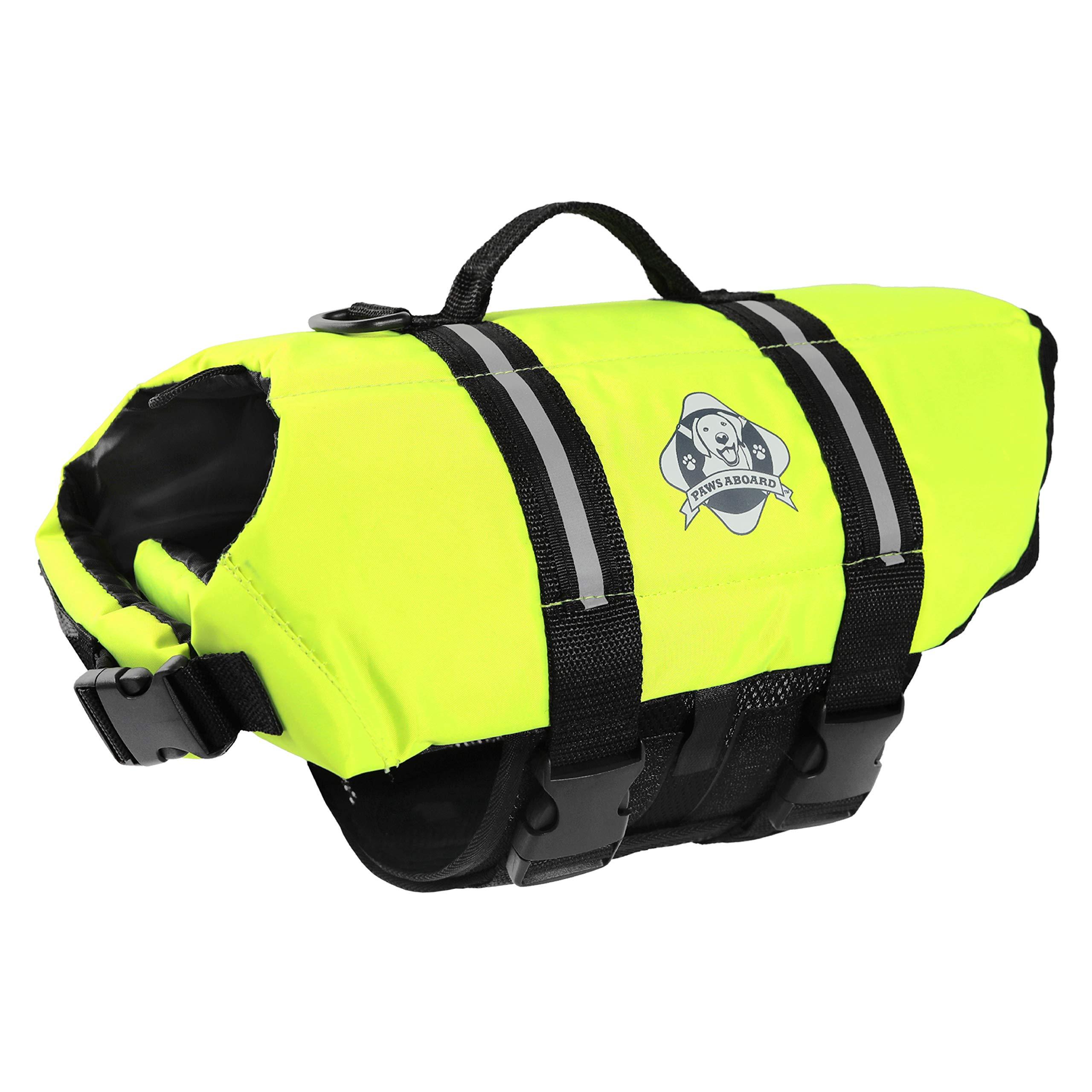 Paws Aboard Doggy Life Jacket XXS-Safety Neon Yellow