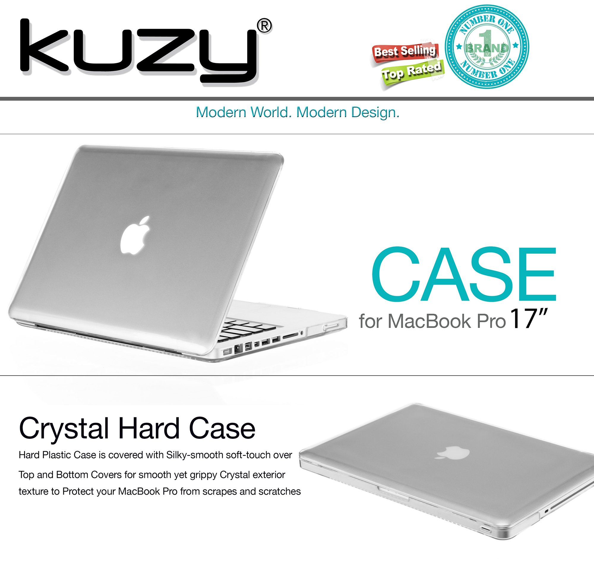 Kuzy 17-inch Soft-Touch Hard Case for MacBook Pro 17'' Model: A1297 Aluminum Unibody, Cover Ultra Slim - CLEAR by Kuzy (Image #2)