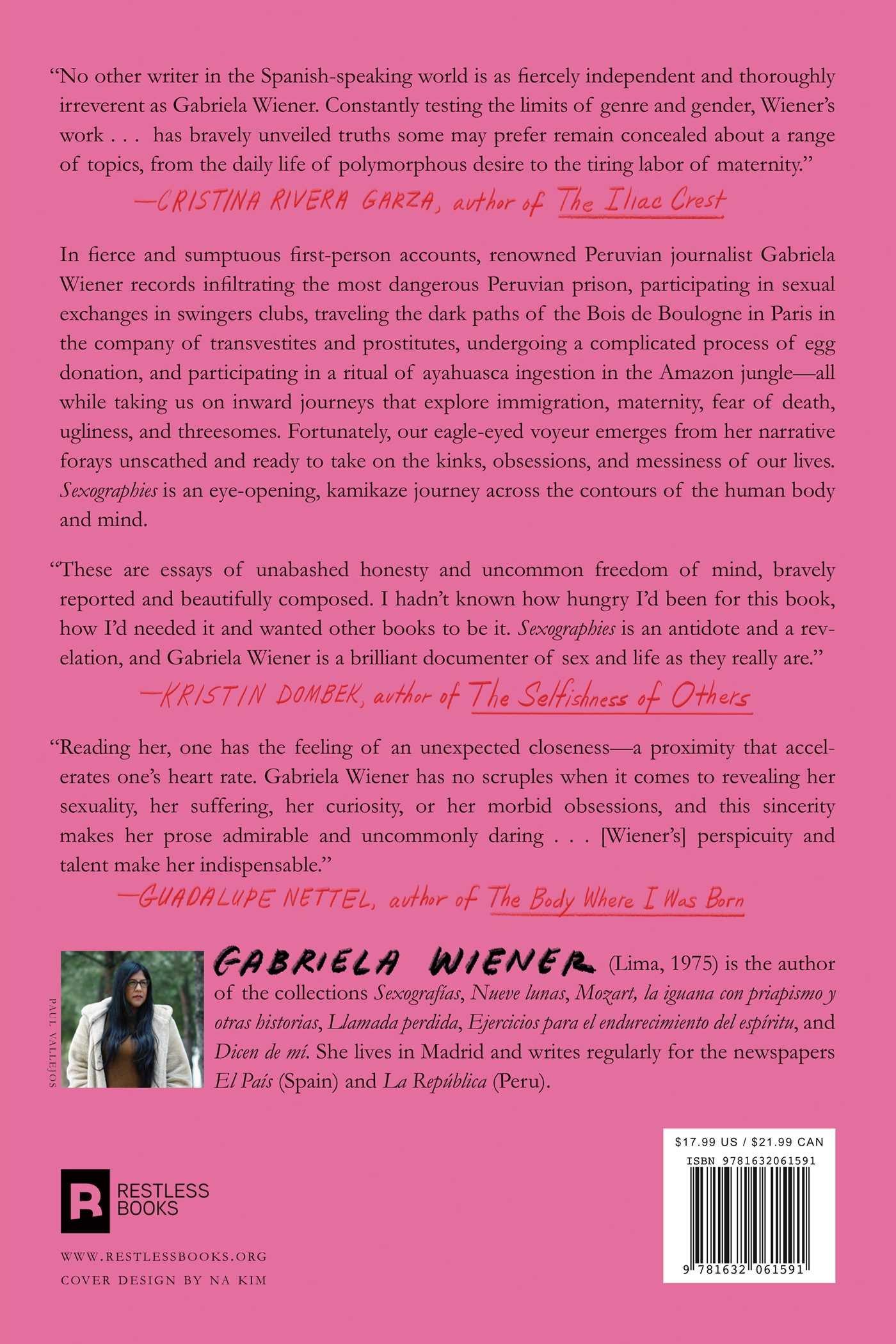 Sexographies: Amazon.es: Gabriela Wiener, Jennifer Adcock ...