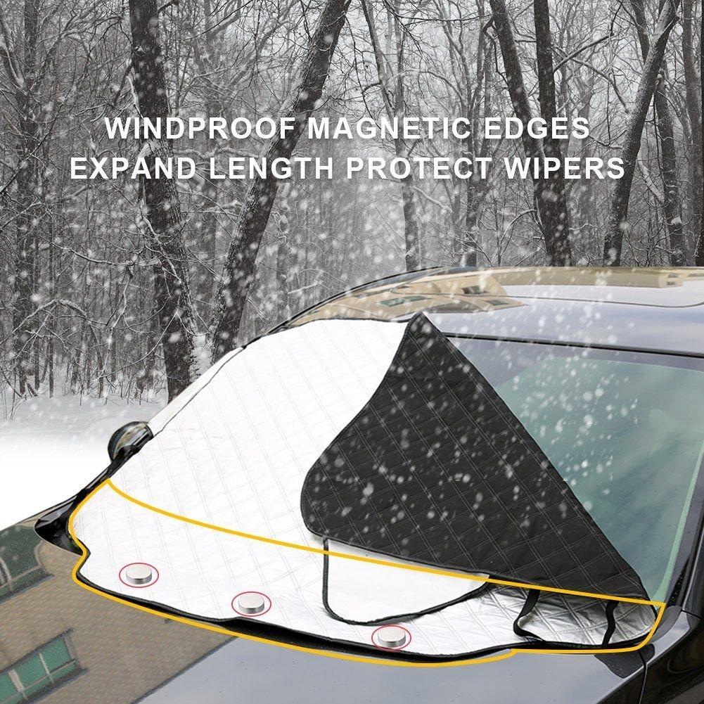 FEZZ Pare-Brise Avant Voiture Magn/étique Pare-soleils Couverture Anti Neige UV Ombre Vent Glace Givre Pluie Protecteur L 147 * 116