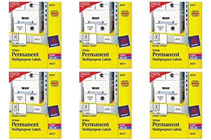 amazon com avery permanent id labels for laser and inkjet printers