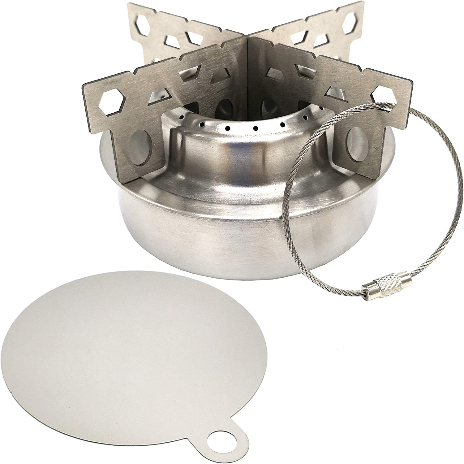 Alcohol Stove Burner Camping Picnic Cookware Burner Heater Stand