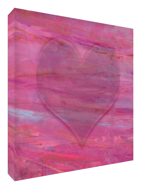 Feel Good Art Leinwand leuchtenden Farben gehören des Künstlers Val Johnson Valentine Design 96x 96x 4cm Größe XXL