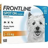 Frontline Spot-on Chien - Anti-puces et anti-tiques pour chien - 2-10kg - 6 pipettes