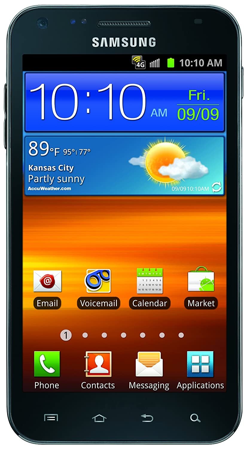 amazon com samsung galaxy s ii epic touch 4g android phone black