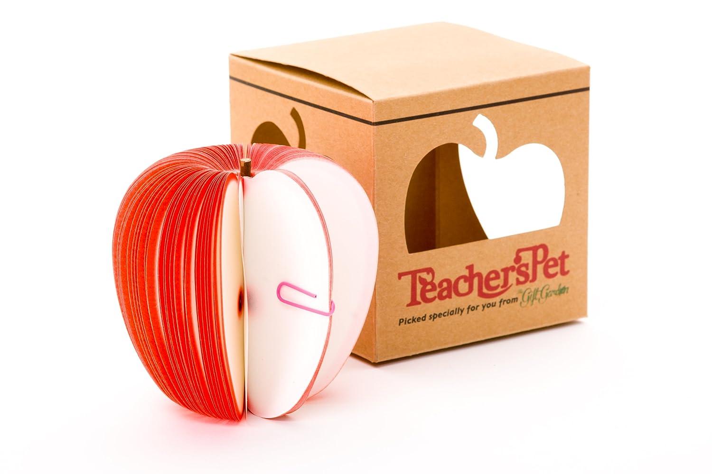 Gli insegnanti pet, rosso blocco note di mela (in inglese) Wellesley Inc TeachPetRed
