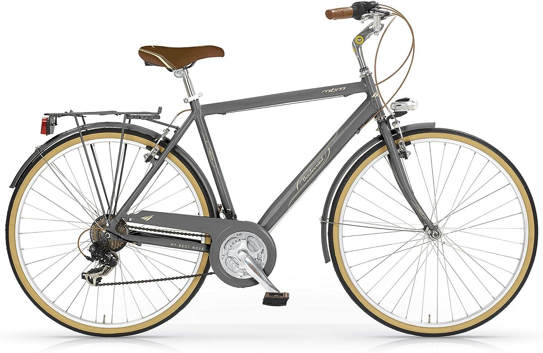MBM Boulevard Bicicleta de Paseo, Hombre, Titanio, 50 Centimeters: Amazon.es: Deportes y aire libre