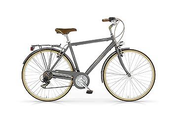 MBM Boulevard - Bicicleta de Paseo para Hombre de 18 velocidades, Cuadro de Aluminio Talla