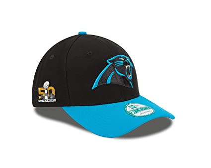 38678eb9c Buy NFL Carolina Panthers Super Bowl 50 The League Side Patch 9FORTY  Adjustable Cap