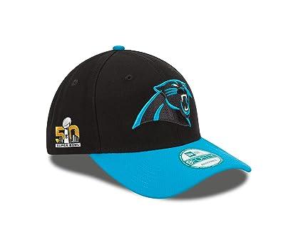 Buy NFL Carolina Panthers Super Bowl 50 The League Side Patch 9FORTY Adjustable  Cap c876144ce