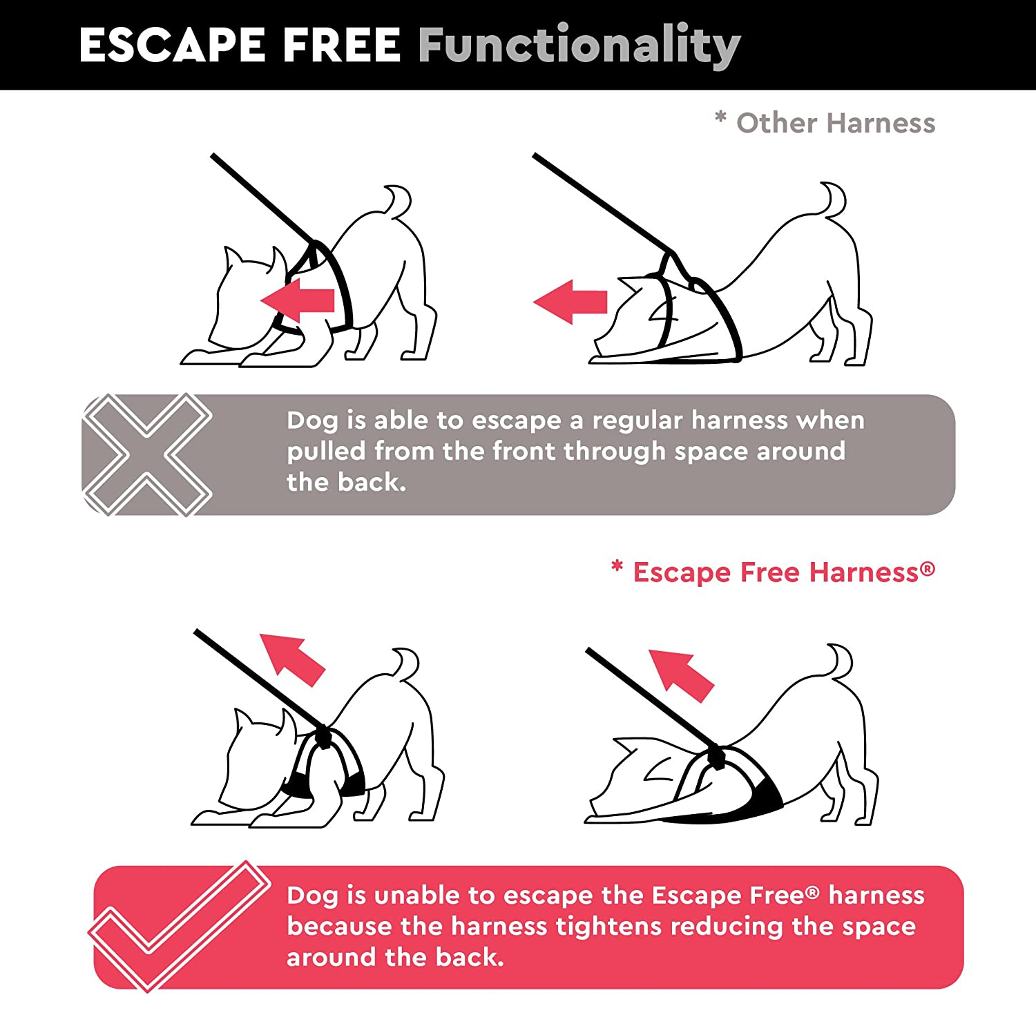 Amazon gooby escape proof escape free easy fit dog harness amazon gooby escape proof escape free easy fit dog harness for dogs that likes to escape their harnesses hot pink large pet supplies pooptronica Images