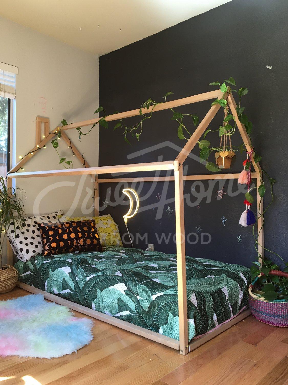 Sweet Home of Wood House - Marco de cama (tamaño único) Baltsum
