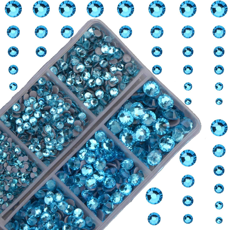 4000pcs Hot Fix Round Crystals Gems Glass Stones Hotfix Flat Back Rhinestones Crystal AB