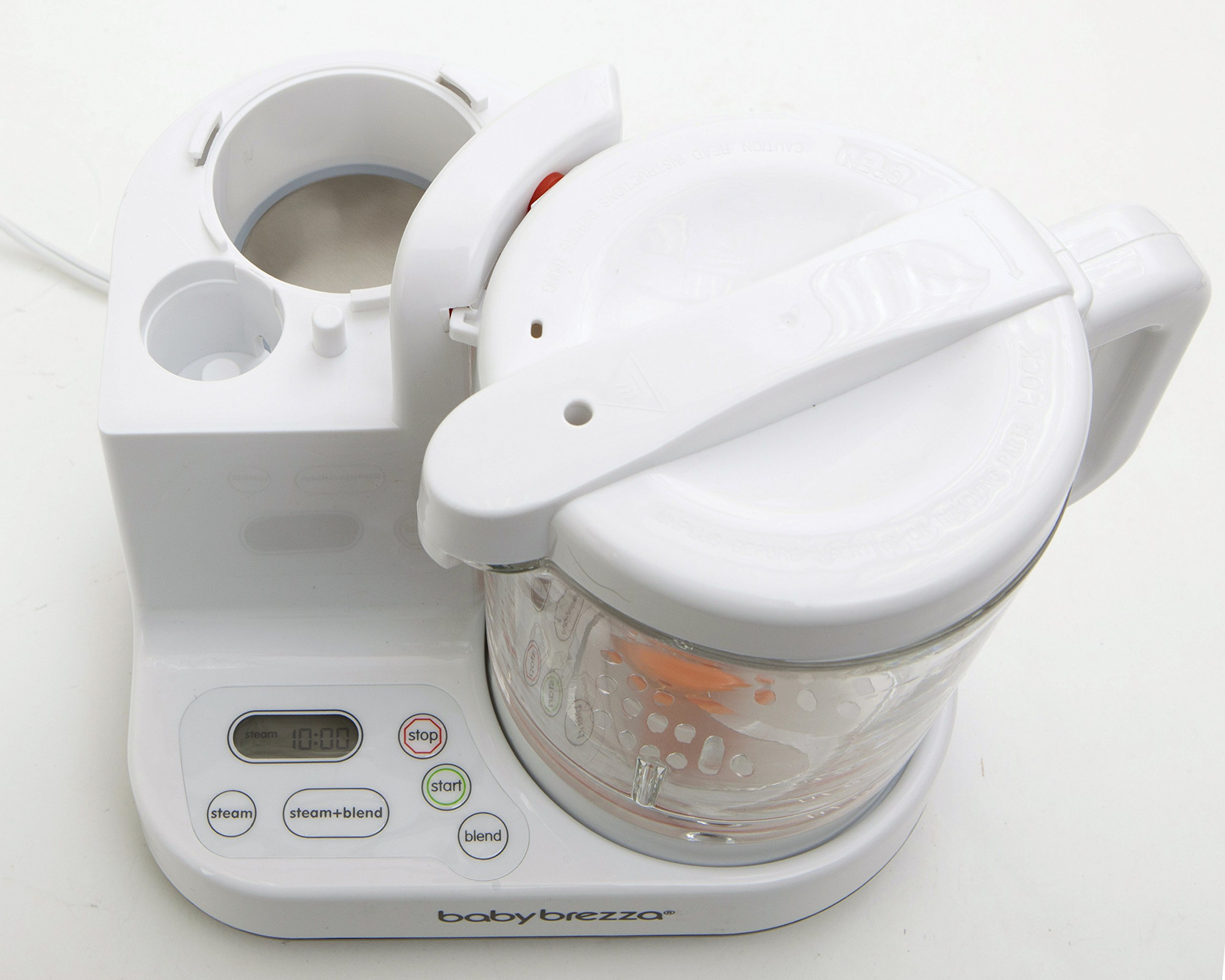 Baby Brezza Glass Baby Food Maker – Cooker and Blender to Steam and Puree Baby Food for Pouches in Glass Bowl - Make Organic Food for Infants and Toddlers – 4 Cup Capacity by Baby Brezza (Image #5)