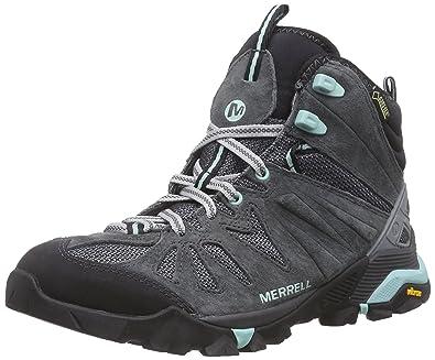 Merrell Women s Capra Mid Gore-Tex High Rise Hiking Boots Grey 0856a2ea8d