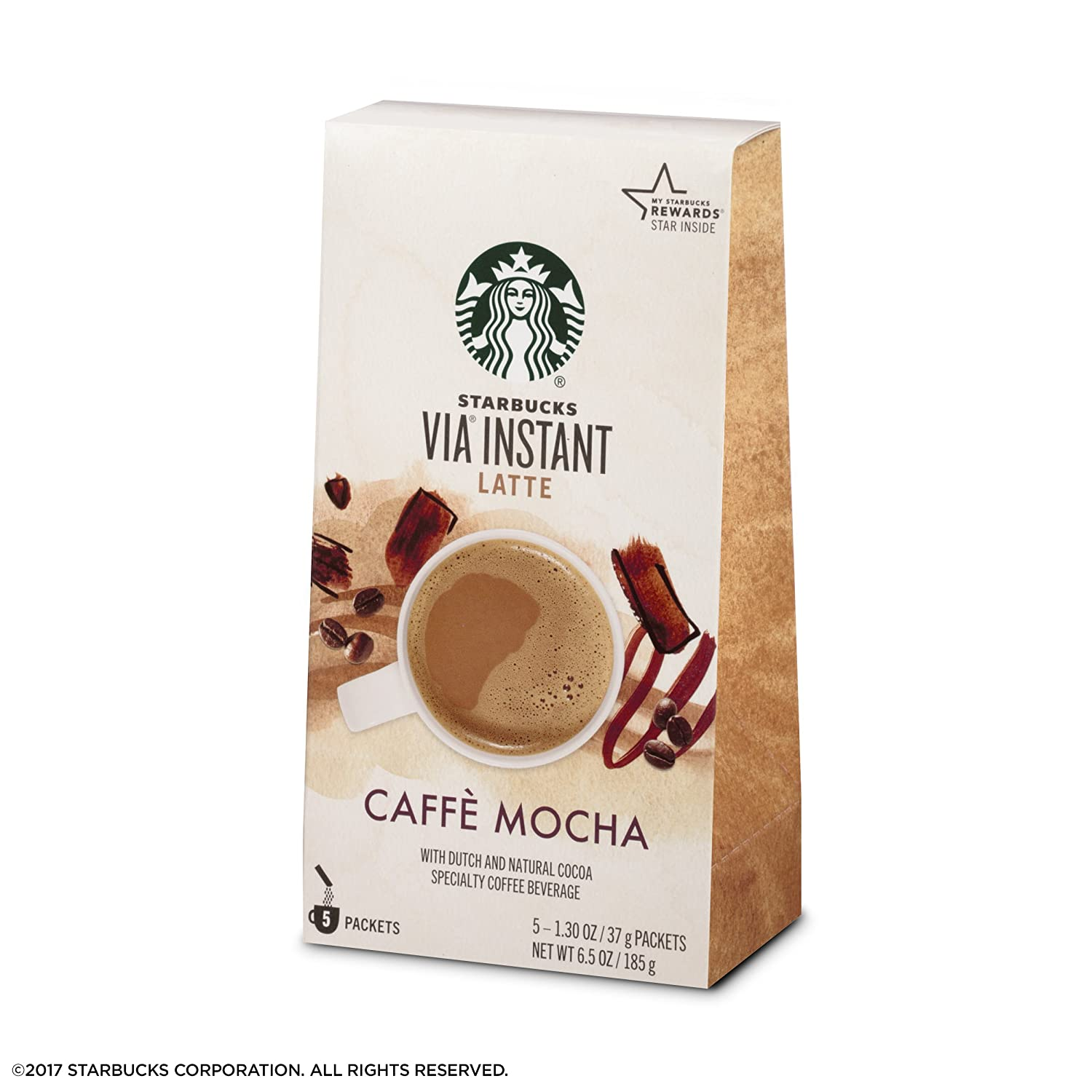Starbucks Via Instant Caramel Iced Coffee 1 Box Of 6