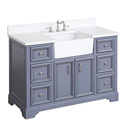 zelda 48 inch bathroom vanity quartz powder gray includes a rh amazon com bathroom vanities 48 inch with top bathroom vanities 48 x 19