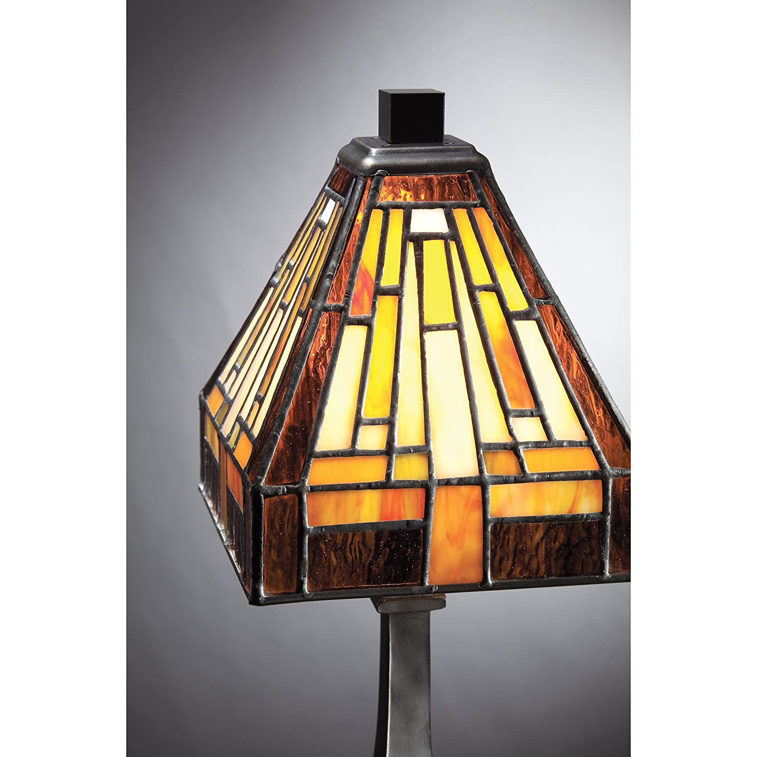 Quoizel TF1018TVB Stephan Mini 1 Light Tiffany Table Lamp