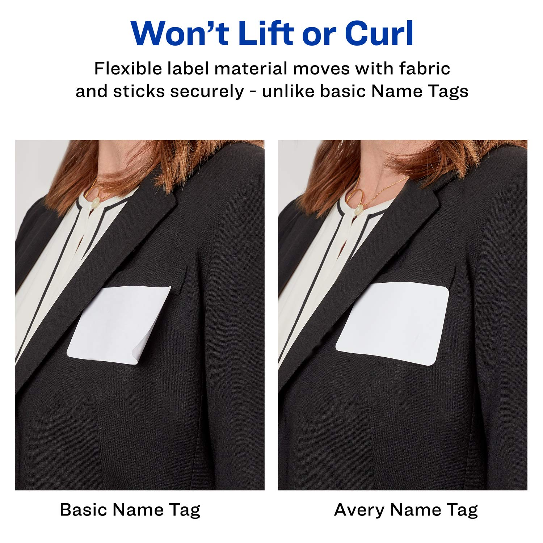 Amazon.com : Avery Premium Personalized Name Tags, Print or Write, 2 ...