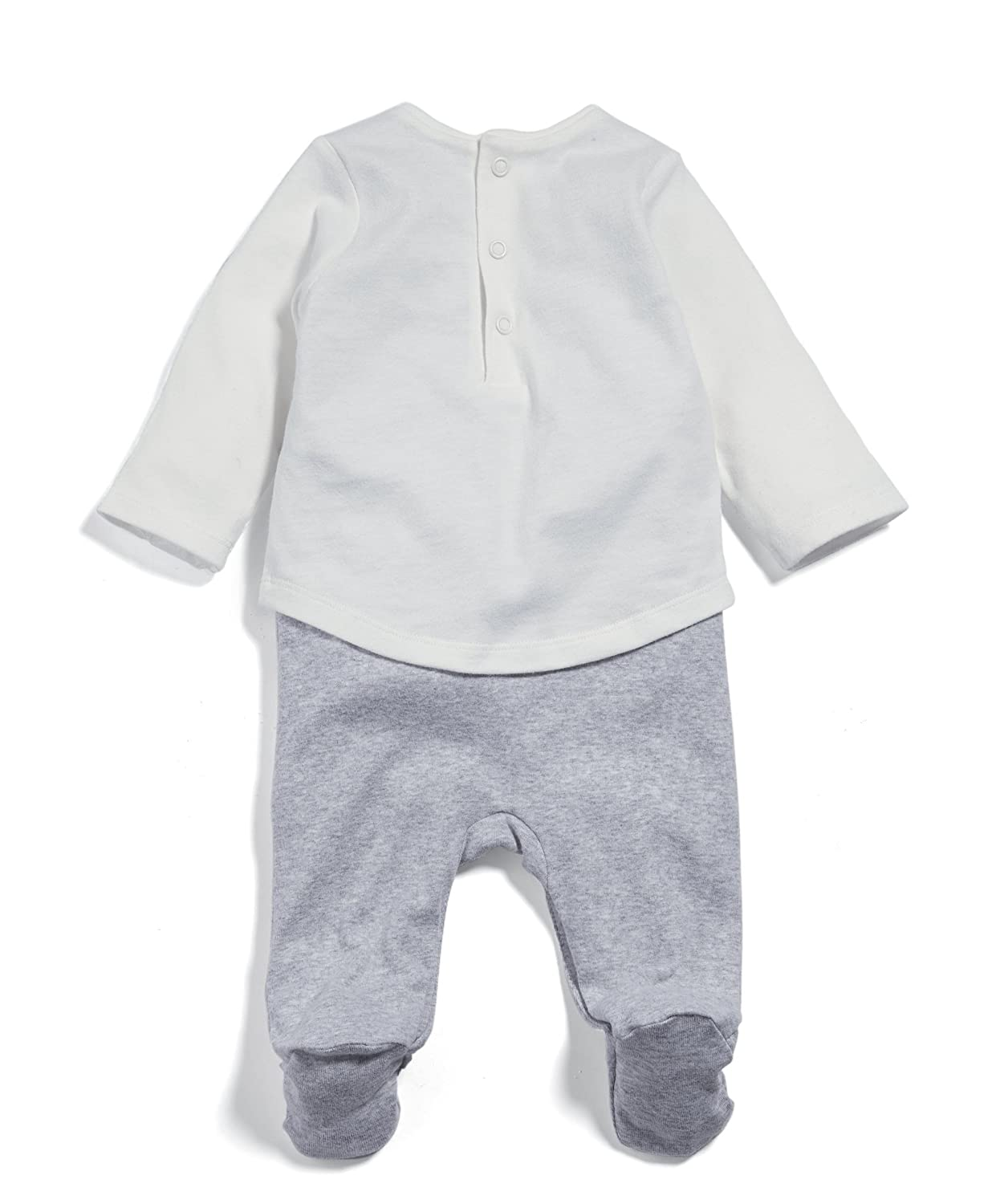 Mamas /& Papas Baby Girls Panda Mock Layer All in One Sleepsuits