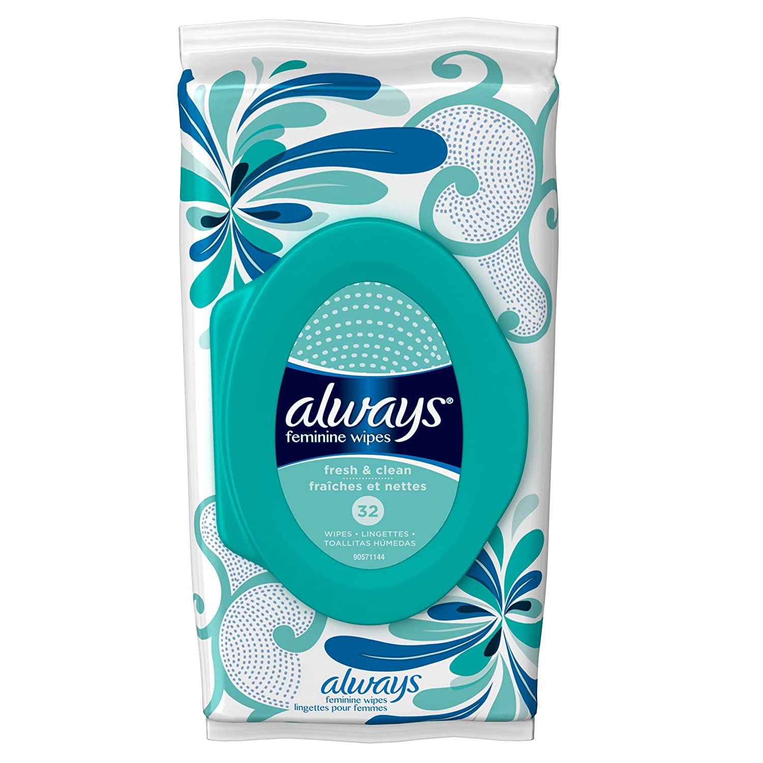 Amazon.com: Always Feminine Wipes - Fresh & Clean and Spring Blossom - 64 Wipes: Health & Personal Care