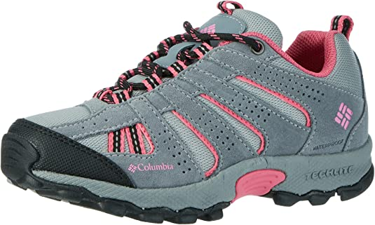 Columbia Youth North Plains Waterproof, Zapatillas de Deporte Exterior Unisex niños, Gris Monument Wild Geranium, 32 EU: Amazon.es: Zapatos y complementos