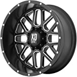 """XD Series by KMC Wheels XD820 Grenade Satin Black Wheel with Milled Spokes (20x9""""/6x135mm, 00mm offset)"""