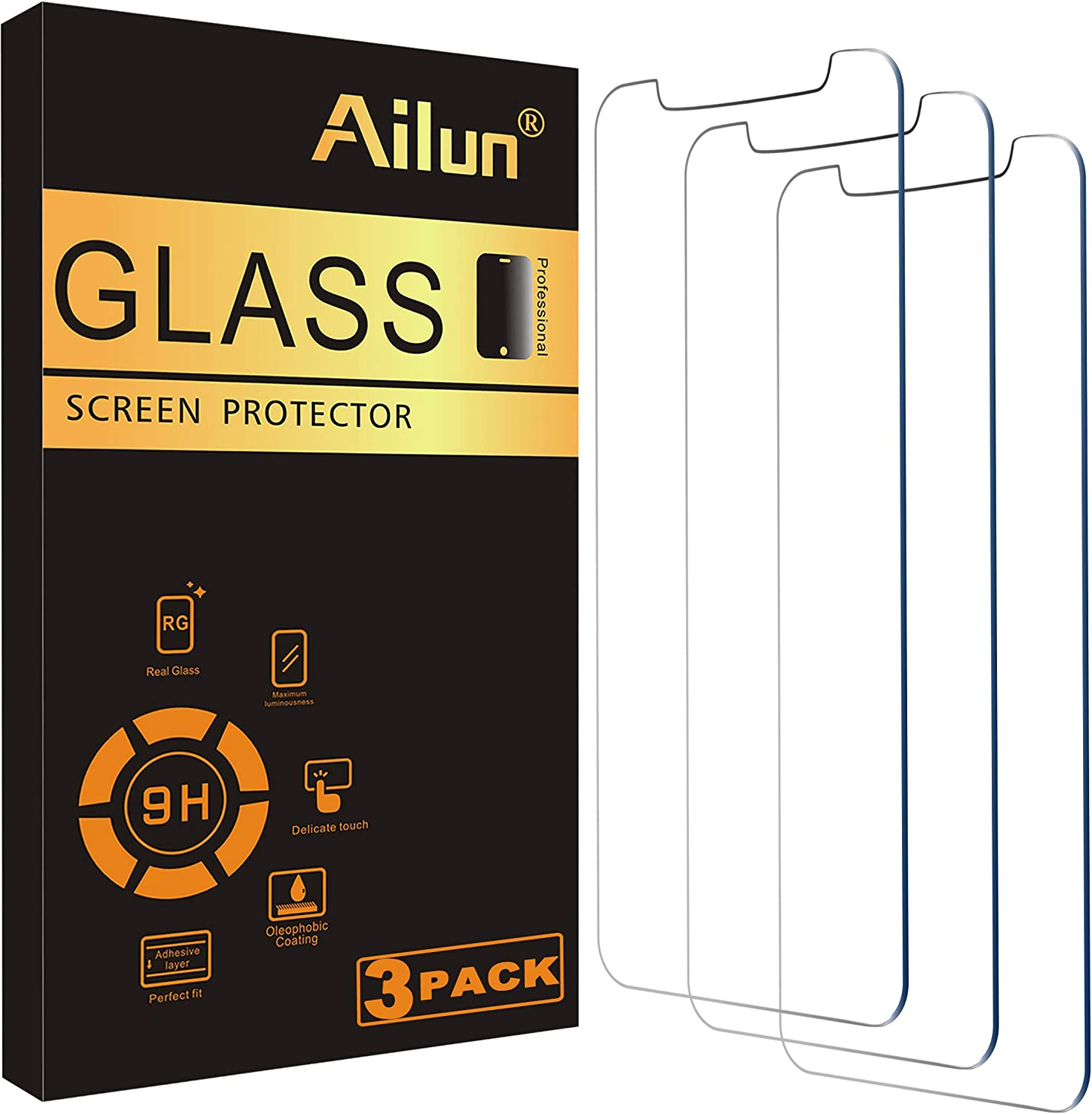 Ailun 3Pack Tempered Glass Screen Protector for iPhone12/iPh