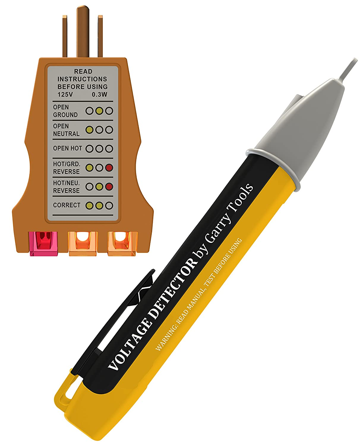 Ac Voltage Wire Identifier Tool : Electrical outlet tester and voltage detector pen set