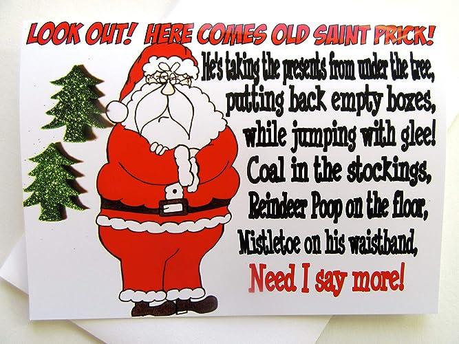 Funny Christmas.Amazon Com Funny Christmas Card Rude Christmas Card Bad